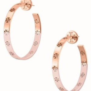Tory Burch pierced t hoop earrings
