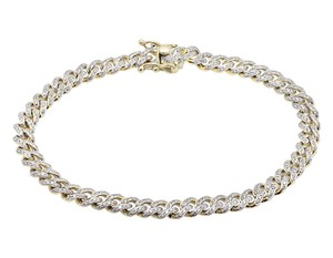 Other Miami Cuban Link Genuine Diamond 7 Inch 6MM Bracelet 3.0ct