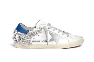 Golden Goose Deluxe Brand Crystal Sneakers Embellished Ggdb white and blue Athletic