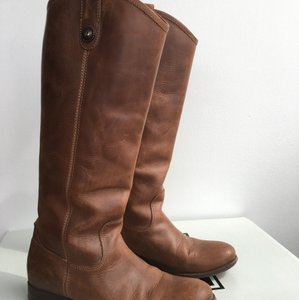 Frye Light Brown Brush-off Boots