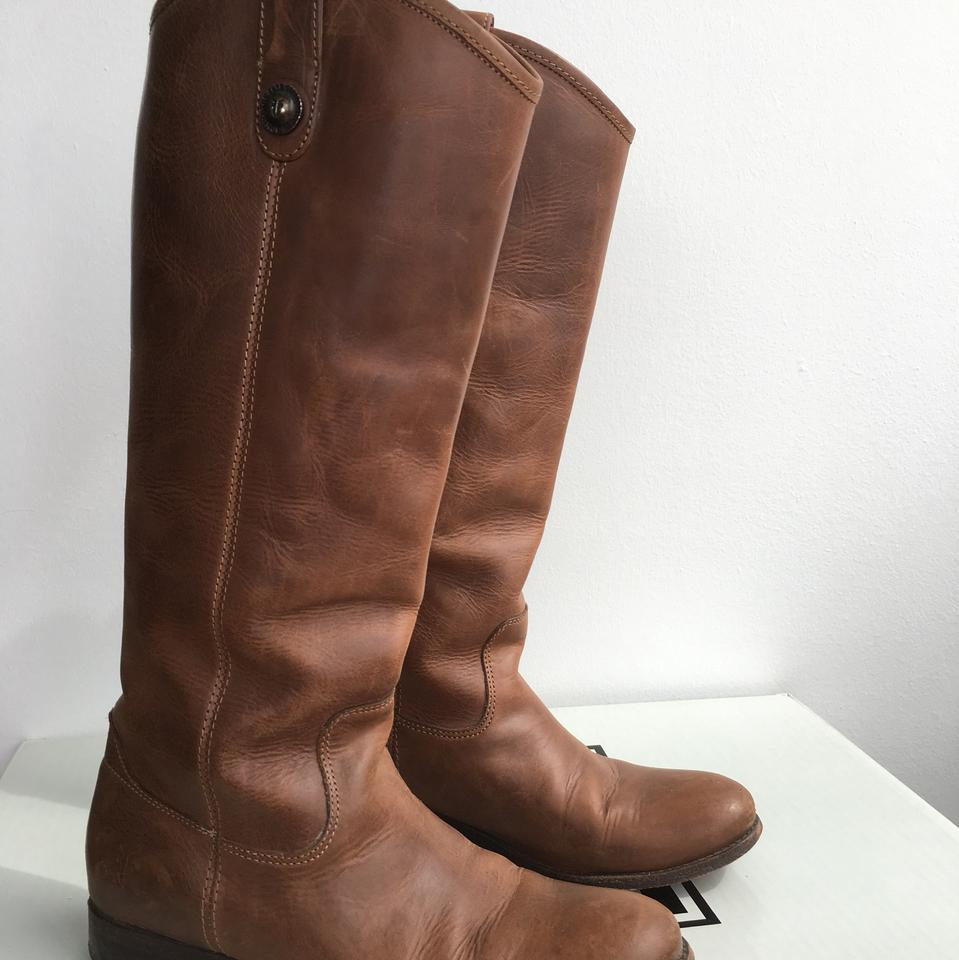 d89efe1010f Frye Light Brown Brush-off Melissa Button Boots/Booties Size US 6.5 Regular  (M, B) 84% off retail
