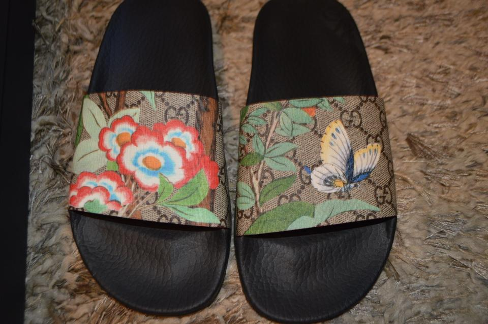 55dd1bcb2bfc Gucci Mules Butterfly Butterflies Flowers Multi Sandals Image 8. 123456789