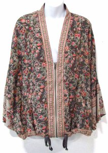 Free People Kimono Floral Boho Spring Summer Top Multi Colored