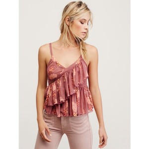 Free People Top Pink Combo