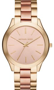 Michael Kors Michael Kors slim runway gold and rose gold watch
