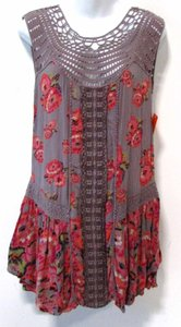 Free People Floral Crouched Summer Tunic