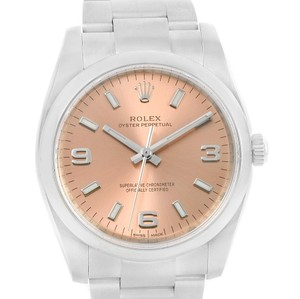 Rolex Rolex Air King Salmon Arabic Dial Stainless Steel Watch 114200