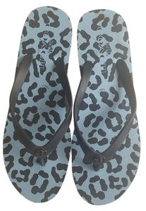 Coach Wedge Leopard Black Sandals