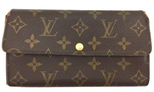 Louis Vuitton #11447 *Clearance* Long Flap Wallet Pocket Card Case Coin zipper zip