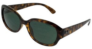 Ray-Ban RB4198-710 Highstreet Women's Havana Frame Green Lens Sunglasses