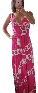 pink and white Maxi Dress by Lilly Pulitzer