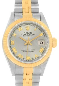Rolex Rolex Datejust Steel 18k Yellow Gold Ladies Watch 69173 Box Papers