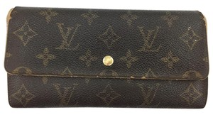 Louis Vuitton #11449 *Clearance* Long Flap Wallet Pocket Card Case Coin zipper zip