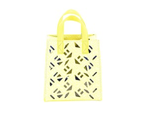 Kenzo Women Leather Tote in Yellow