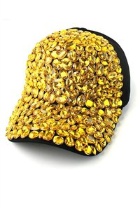 Other Retro Chic Mellow Yellow Rhinestone And Crystal Accent Baseball Cap