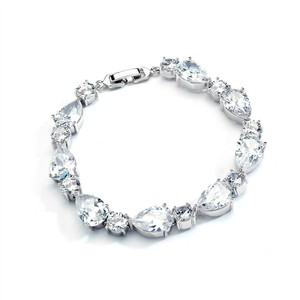 Stunning Luxe Crystal Pears Rounds Bracelet