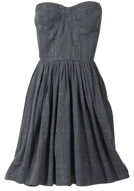 Rebecca Taylor short dress Gray Charlie Bustier Top Size 8 Steel on Tradesy Image 1
