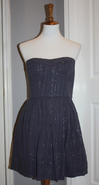 Rebecca Taylor short dress Gray Charlie Bustier Top Size 8 Steel on Tradesy