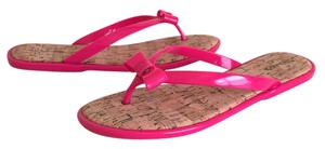 G.H. Bass & Co. Jelly Flip Flops Summer Hot Pink Sandals
