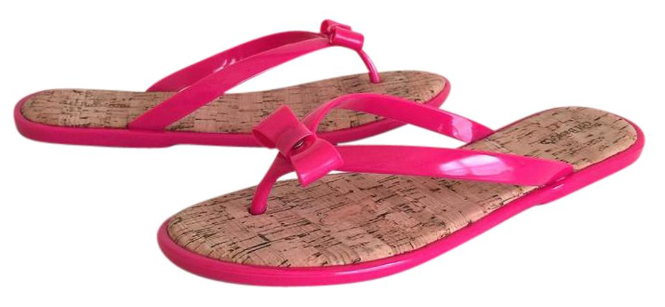 991c76ddb58 G.H. Bass & Co. Hot Pink Jelly Ava Women's Flip Flops 10m Sandals Size US  10 Regular (M, B) 51% off retail