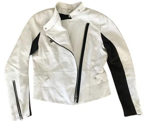 Kenneth Cole Kenneth Biker White Moto White Leather Moto White Leathr Moto -8 Motorcycle Jacket