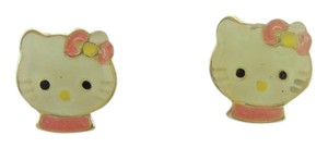 Hello Kitty Vintage Hello Kitty Small Stud Earrings-10k Yellow Gold
