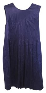 Vince Sleeveless Silk Pleated Dress