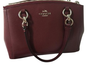 Coach Satchel in Plum/Maroon