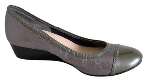Cole Haan Nike Air Wear To Work Metallica Gray/Pewter & Olive Green Wedges