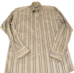 Burberry London Button Down Shirt blue and grey strips