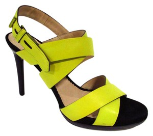 Reed Krakoff Heels Strappy Summer Spring Yellow Sandals