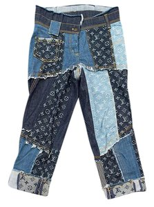 Louis Vuitton Monogram Denim Lv Jeans/Denim Straight Leg Jeans-Dark Rinse
