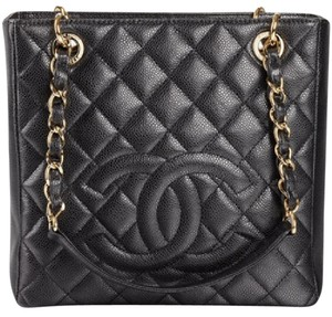 Chanel Shopping Pst Cc Tote in Black