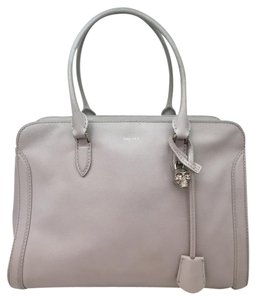 Alexander McQueen Skull Padlock Tote in Light Blue-Gray