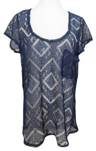 6873259b86 Kimchi Blue Lace Pocket T Sleeve Urban Outfitters T Shirt Blue
