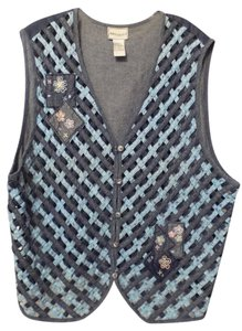 Napa Valley Plus 2x Cotton Lightweight Embroidered Vest