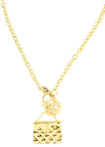 Chanel Chanel gold-tone flap bag charm necklace