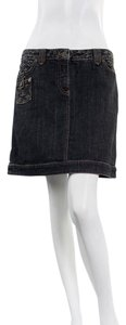 Louis Vuitton Monogram Denim Casual Fashion Design Skirt Dark Grey