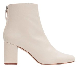 Zara Leather Vintage Summer Off white ecru Boots