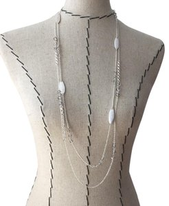 The Limited the limited rondelle silver beaded necklace