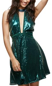 Free People Halter Sequin Sexy Boho Dress