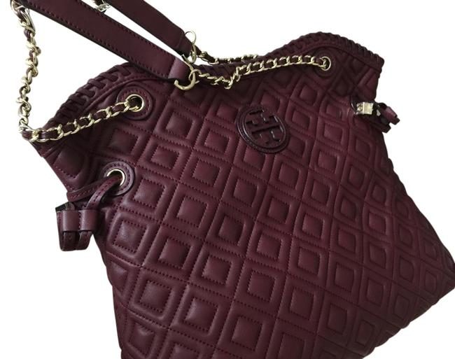 Item - Marion Quilted Slouchy Deep Berry Tote