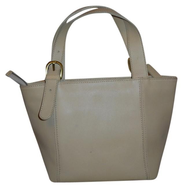 Beige Leather Tote Beige Leather Tote Image 1