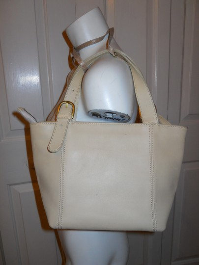 unknown Leather Tote in beige Image 1