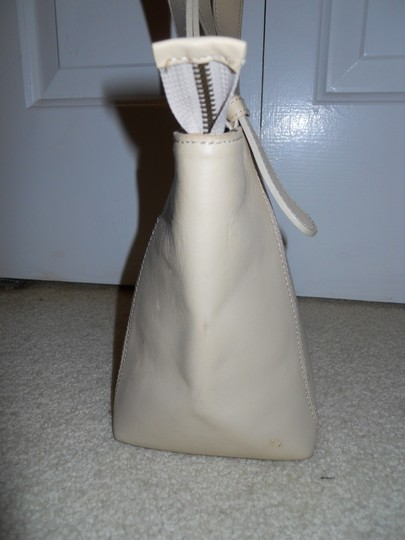 unknown Leather Tote in beige Image 3