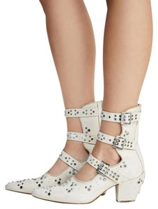 Free People Ivory Studded Bootie Sandals