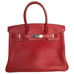 Hermès Satchel in red rouge vif