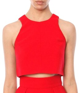 Black Halo Crop Evening Wear Black Tie Cocktail Top Red