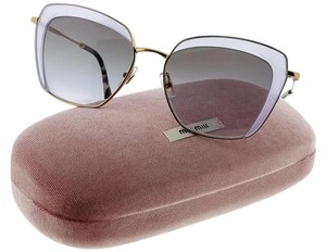 Miu Miu MU52QS-TWJ3E2 Cat Eye Women's Lilac Frame Grey Lens Genuine Sunglasses
