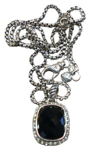 David Yurman Noblesse Black Onyx w/pave' diamonds pendant necklace